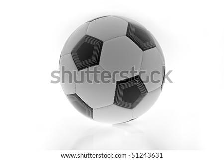 soccer ball isolated - stock photo