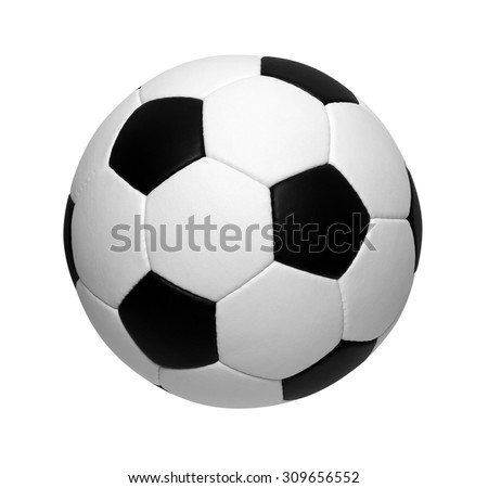 soccer ball isolated on white - stock photo