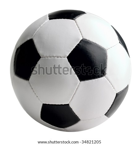 Soccer-ball isolated on white background - stock photo