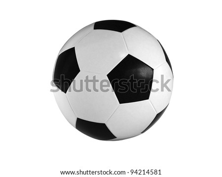 Soccer ball isolated on white background