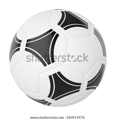 Soccer ball isolated on white background. 3d illustration high resolution