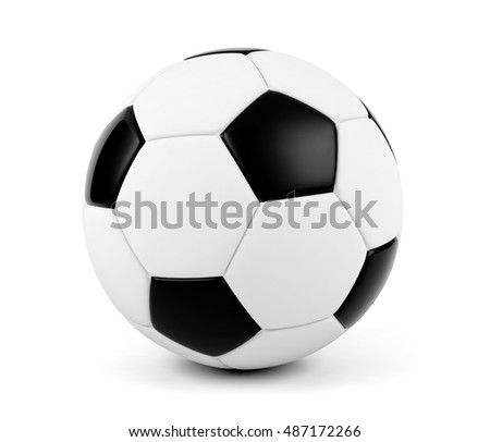 Soccer ball isolated on white background, 3D rendering