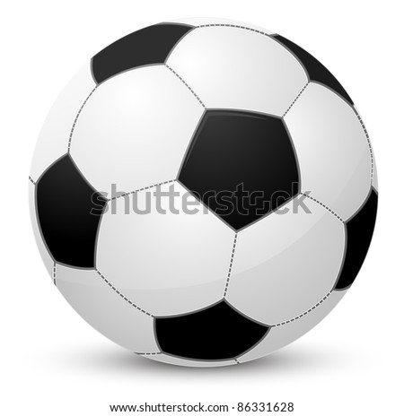 Soccer ball isolated on white. Raster copy.