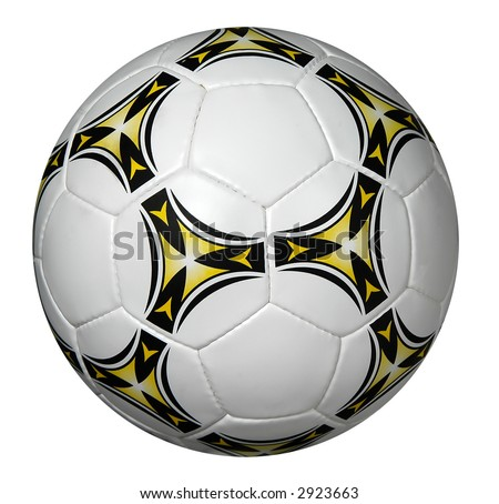 Soccer ball isolated over a white background - stock photo