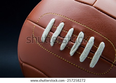 soccer ball made of leather - stock photo