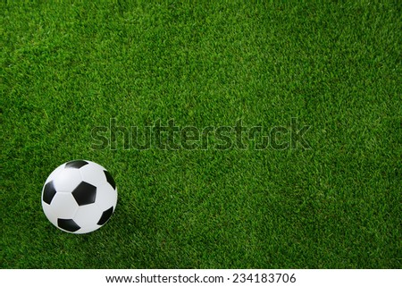 Soccer ball on green turf