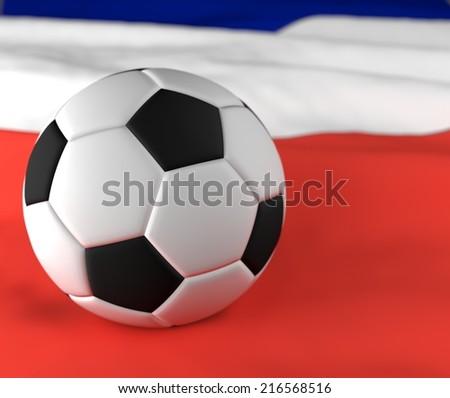 soccer ball on the france flag  - stock photo
