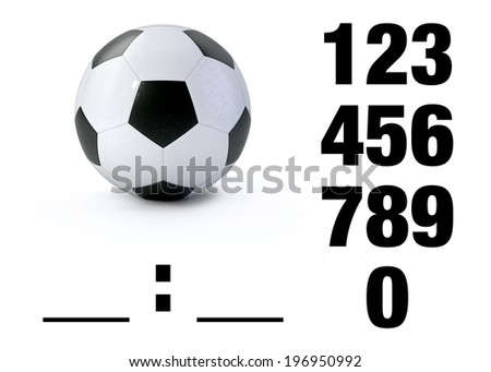 Soccer ball on white - stock photo