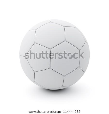 Soccer-Ball on White Background - stock photo