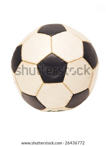 Soccer ball on white background - stock photo
