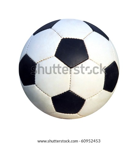 Soccer ball over 100% white background - stock photo