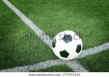 soccer ball with football field