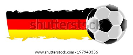 Soccer ball with german flag - stock photo