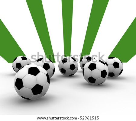 soccer balls - stock photo