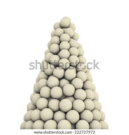 Soccer balls peak - stock photo