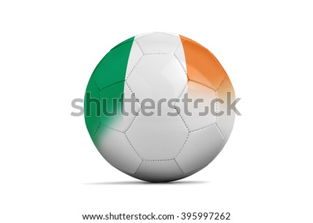 Soccer balls with team flags, Football Euro 2016. Group E, Ireland- clipping path - stock photo