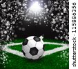 Soccer christmas holyday background - stock photo
