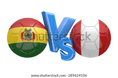 Soccer competition, national teams Bolivia vs Peru - stock photo
