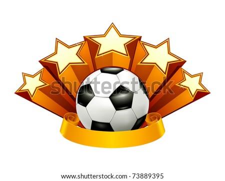 Soccer Emblem, bitmap copy - stock photo