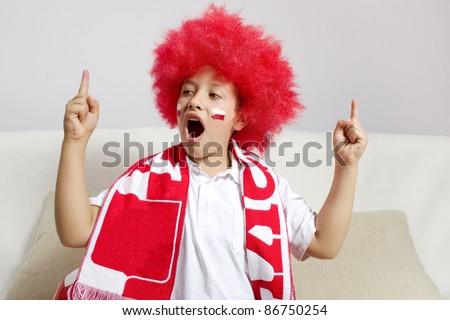 soccer fan - stock photo