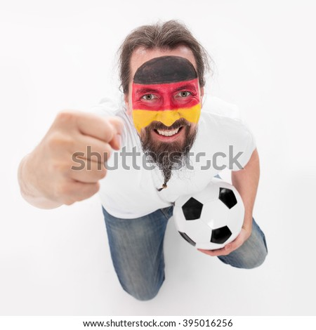 Soccer fan from the national Team of Germany, concept european championship
