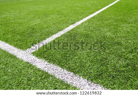 Soccer field grass on the green - stock photo