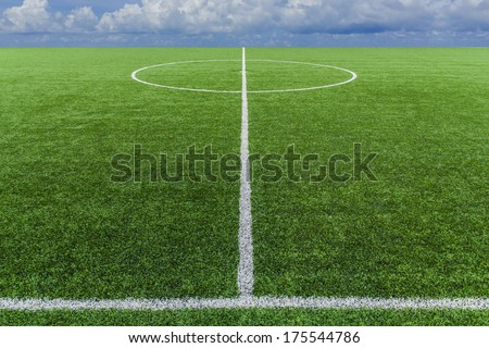 soccer field grass with sky