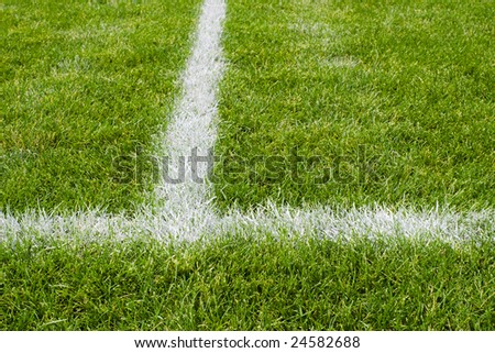 Soccer field intersecting lines. See more soccer images in my portfolio.
