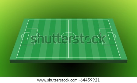 Soccer field on green  background