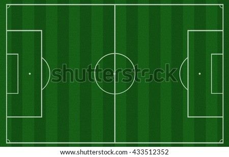 Soccer field on top view,football field background,Soccer Field, Soccer, American Football Field, Playing Field, Directly Above - stock photo