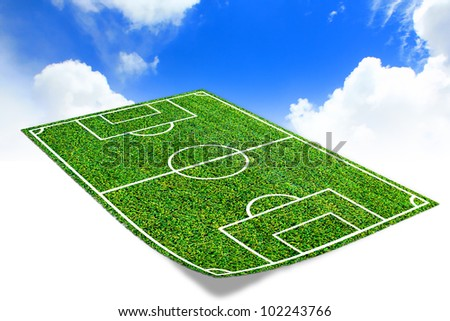 Soccer field  with artificial grass