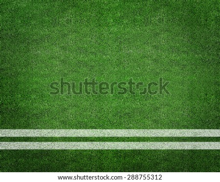 Soccer field with line