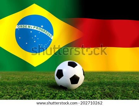 Soccer 2014 ( Football ) Brazil and German