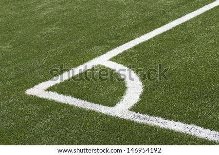 Soccer Football Corner on artificial grass