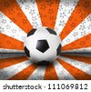 soccer football on color seem national flag - stock photo