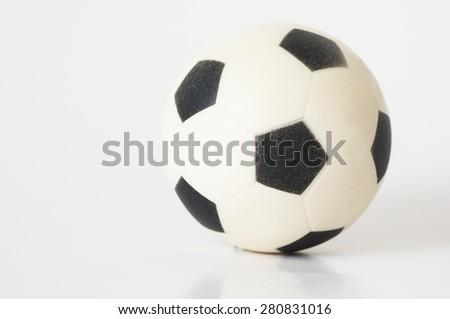 Soccer football on white background - stock photo