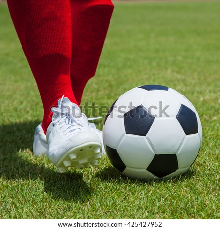 Soccer, football, player with ball