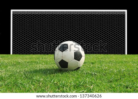 Soccer (Football) target to goal - stock photo
