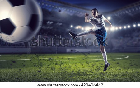Soccer forward player  - stock photo