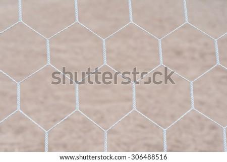 Soccer goal net - stock photo