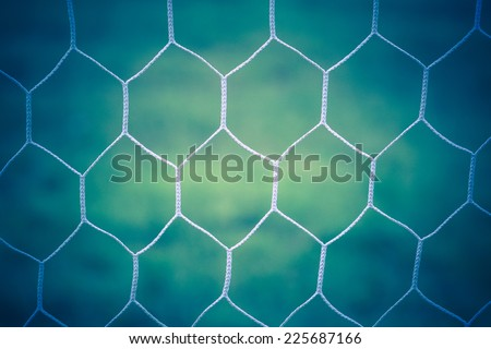 Soccer goal net vintage background - stock photo