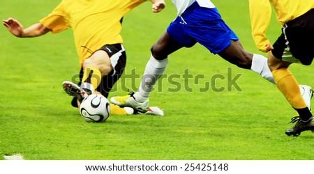 Soccer match 3 - stock photo