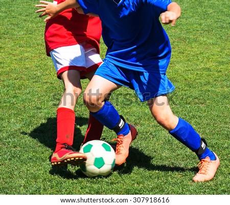 Soccer match - stock photo