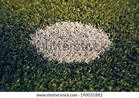 soccer or football background with selective focus - stock photo