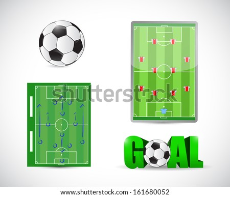 soccer or football concept illustration design over a white background - stock photo