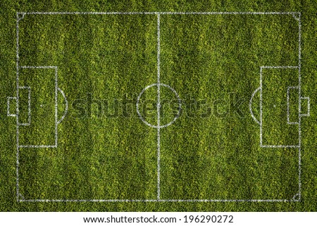 soccer or football filed, top view - stock photo