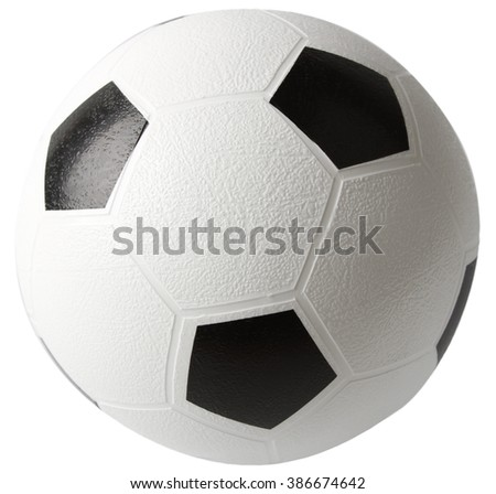 Soccer, or football isolated on white background - stock photo