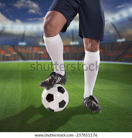 soccer or football player on the field - stock photo