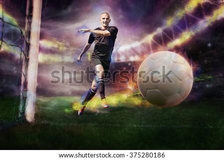 soccer or football player on the field