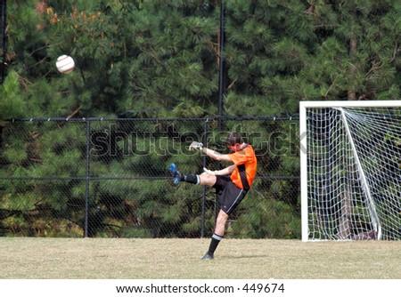 Soccer Punt - stock photo